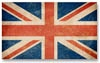 Grunge flags: USA, Great Britain, Italy, France, Denmark, German